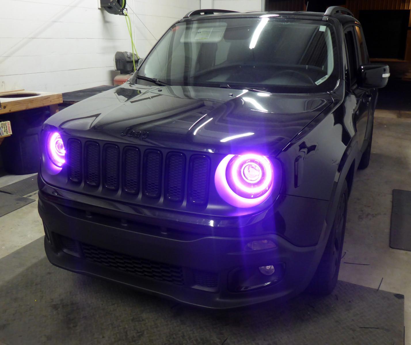 Custom Hid Amp Rgb Led Headlight Retrofit Jeep Renegade Forum